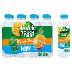 Volvic Touch of Fruit Sugar Free Special Edition Mango Passion Natural Flavoured Water 12 x 500ml