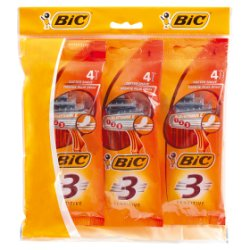 BIC 3 Sensitive Disposable Men's Razors - Lot of 4 Packs of 4