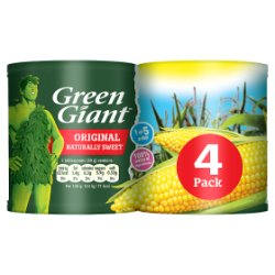 Green Giant Original Sweetcorn 4 x 198g