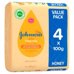 JOHNSON'S® Baby Honey Soap 4 x 100g