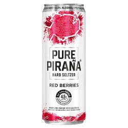 Pure Piraña Hard Seltzer Red Berries 330ml Can