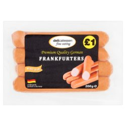 Delicatessen Fine Eating Frankfurters 4 x 50g (200g)