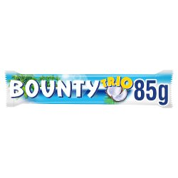 Bounty Coconut Milk Chocolate Trio Bar 85g