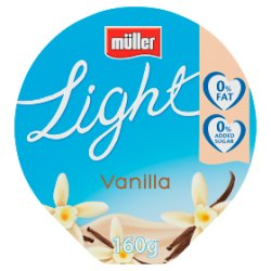 Muller Light Fat Free Vanilla Yogurt 160g
