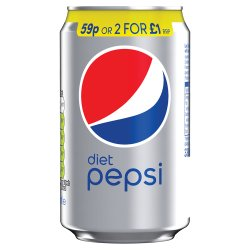 Diet Pepsi Cola Can PMP 59P 330ml