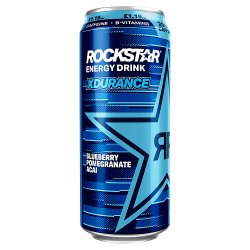 Rockstar Xdurance Blueberry, Pomegranate and Acai 500ml Can, PMP £1.19