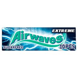 Wrigley's Airwaves Extreme Sugarfree Chewing Gum 10 Pieces 14g