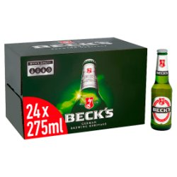 Beck's German Pilsner Beer Bottles 24 x 275ml