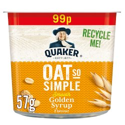 Quaker Oat So Simple Golden Syrup Porridge Pot PMP 57g