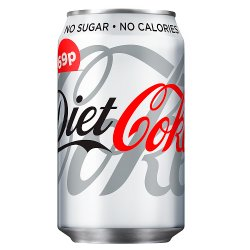 Diet Coke 330ml PMP 69p