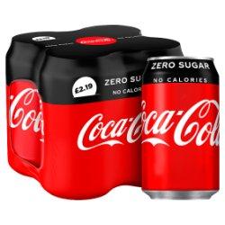 Coca-Cola Zero Sugar 4 x 330ml PMP £2.19