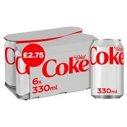 Diet Coke 6 x 330ml PM £2.75