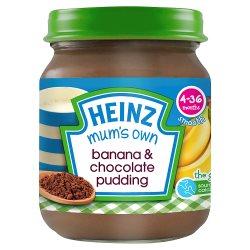 Heinz 4-36 Months Smooth Mum's Own Banana & Chocolate Pudding 120g