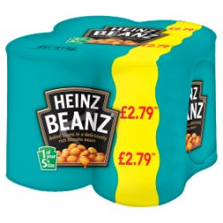 Heinz Beanz Baked Beans in a Deliciously Rich Tomato Sauce 4 x 415g