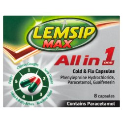 Lemsip Max All in 1 Cold & Flu Capsules 8 Capsules