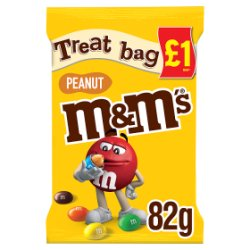 M&M's Peanut Chocolate £1 PMP Treat Bag 82g