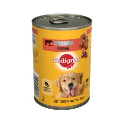 Pedigree Adult Wet Dog Food Tin Original in Loaf 400g