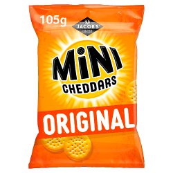Jacob's Mini Cheddars Original Cheese Snacks 105g