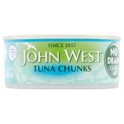 John West No Drain Tuna Chunks with a Little Brine 110g
