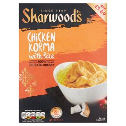 Sharwood's Chicken Korma with Rice 375g