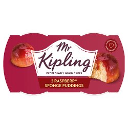 Mr Kipling Raspberry Sponge Puddings 2 x 95g