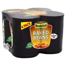 Branston Baked Beans in a Rich and Tasty Tomato Sauce 4 x 410g