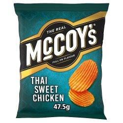 The Real McCoy's Ridge Cut Thai Sweet Chicken Potato Crisps 47.5g