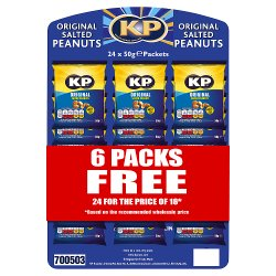 KP Original Salted Peanuts 24 x 50g