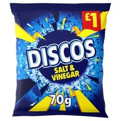 Discos Salt & Vinegar Crisps 70g £1 PMP