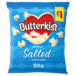 Butterkist Simply Salted Popcorn 50g, £1 PMP