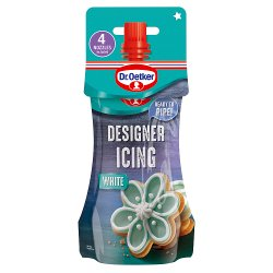 Dr. Oetker White Designer Piping Icing & Nozzles 140g