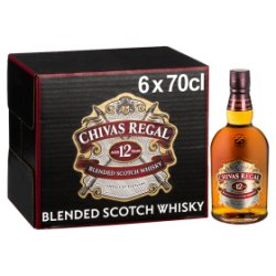 Chivas Regal 12 Year Old Blended Scotch Whisky 6 x 70cl
