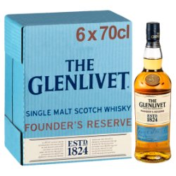 The Glenlivet Founder's Reserve Single Malt Scotch Whisky 6 x 70cl