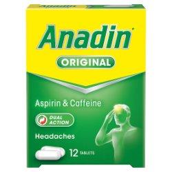 Anadin Original Aspirin & Caffeine 12 Tablets
