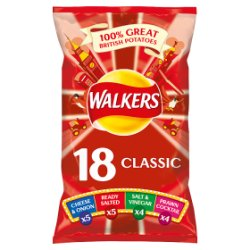 Walkers Classic Variety Crisps 18x25g