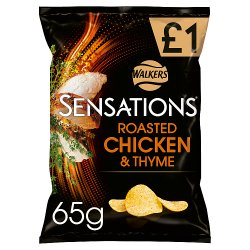 Walkers Sensations Roasted Chicken & Thyme Crisps £1 PMP 65g