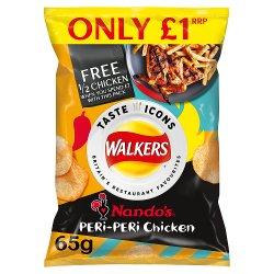 Walkers Nando's Peri-Peri Chicken Flavour Crisps PMP 65g