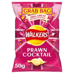 Walkers Prawn Cocktail Crisps 50g