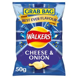 Walkers Cheese & Onion Grab Bag Crisps 50g