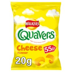 Walkers Quavers Cheese Snacks PMP 20.5g