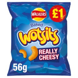Walkers Wotsits Really Cheesy Snacks £1 PMP 56g