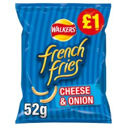 Walkers French Fries Cheese & Onion Snacks PMP 52g