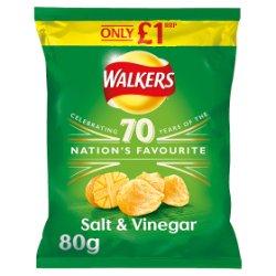 Walkers Salt & Vinegar Crisps PMP 80g