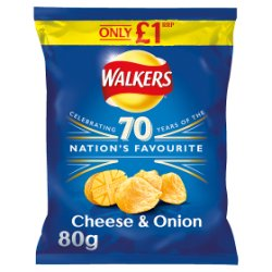 Walkers Cheese & Onion Crisps PMP 80g