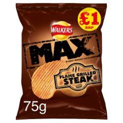 Walkers Max Flame Grilled Steak Crisps PM £1