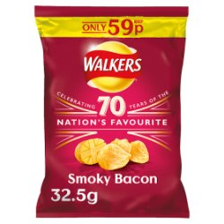 Walkers Smoky Bacon Crisps PMP 32.5g