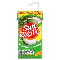 Sun Exotic Pineapple & Coconut Still Juice 288ml, PMP 59p