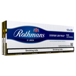 Rothmans Blue Superkings 10 x 20 Cigarettes
