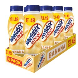 Weetabix On The Go Banana Breakfast Drinks Case 8 x 250ml PMP £1.49