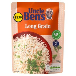 Uncle Bens PMP £1.79 Long Grain Microwave Rice